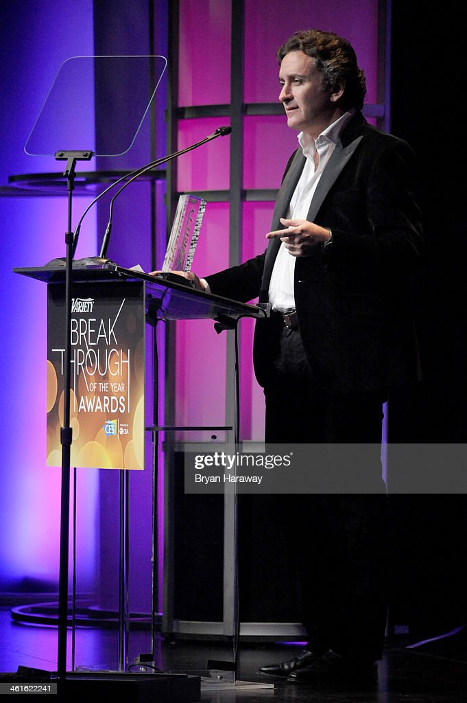 Honoree <a gi-track='captionPersonalityLinkClicked' href=/galleries/search?phrase=Alejandro+Agag&family=editorial&specificpeople=2910760 ng-click='$event.stopPropagation()'>Alejandro Agag</a> accepts the Breakthrough Award for Innovator onstage at the Variety Breakthrough of the Year Awards during the 2014 International CES at The Las Vegas Hotel & Casino on January 9, 2014 in Las Vegas, Nevada.