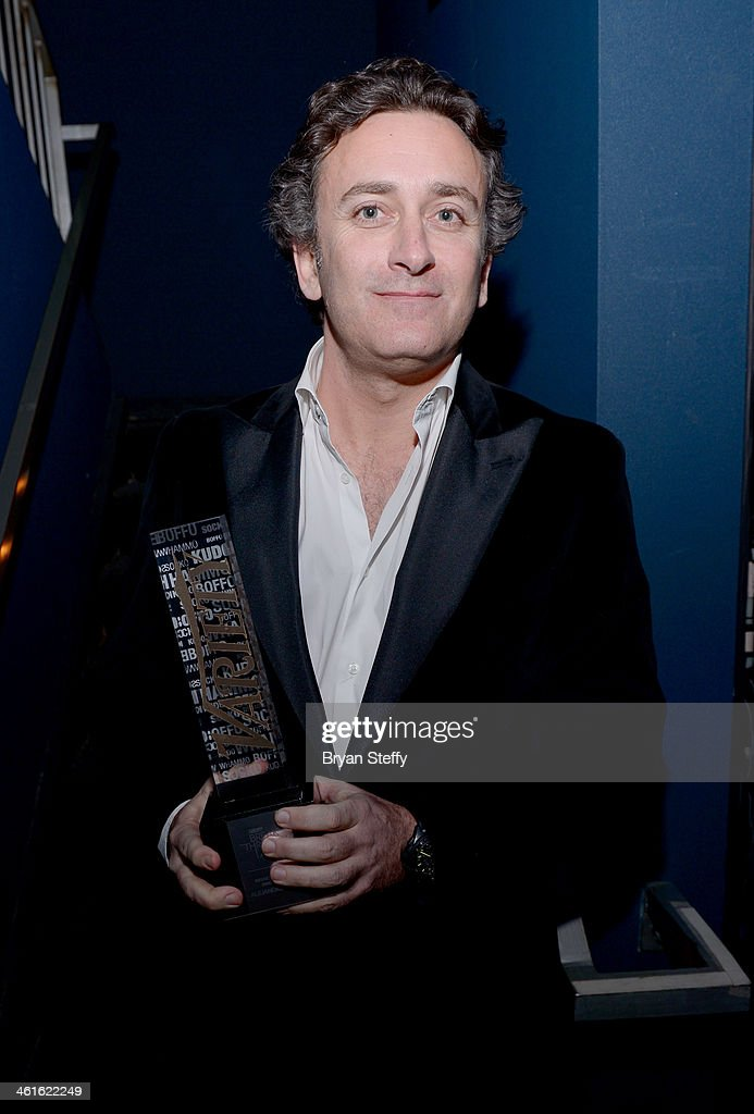 Honoree <a gi-track='captionPersonalityLinkClicked' href=/galleries/search?phrase=Alejandro+Agag&family=editorial&specificpeople=2910760 ng-click='$event.stopPropagation()'>Alejandro Agag</a> poses with the Breakthrough Award for Innovator at the Variety Breakthrough of the Year Awards during the 2014 International CES at The Las Vegas Hotel & Casino on January 9, 2014 in Las Vegas, Nevada.