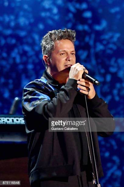 Honoree Alejandro Sanz performs onstage during The 18th Annual Latin Grammy Awards at MGM Grand Garden Arena on November 16 2017 in Las Vegas Nevada