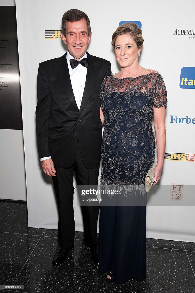 Honoree Alfredo Setubal (L) and wife Rose Setubal attend the 11th Brazil Foundation NYC gala at The Museum of Modern Art on September 18, 2013 in New York City.