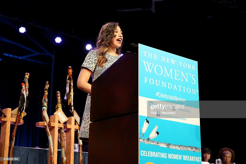 Honoree Amanda Mato speaks on stage during The New York Women's Foundation's 2016 celebration womens breakfast on May 5, 2016 in New York City.