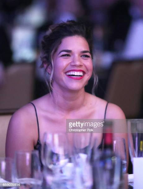 Honoree America Ferrera at The Human Rights Campaign 2017 Los Angeles Gala Dinner at JW Marriott Los Angeles at LA LIVE on March 18 2017 in Los...