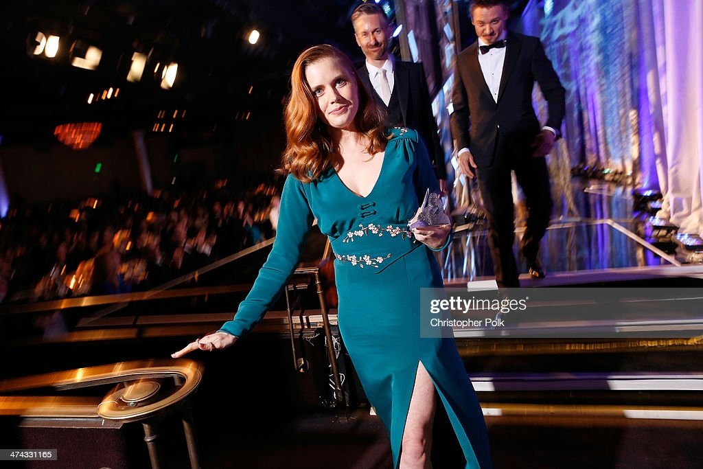 Honoree Amy Adams attends the 16th Costume Designers Guild Awards with presenting sponsor Lacoste at The Beverly Hilton Hotel on February 22, 2014 in Beverly Hills, California.