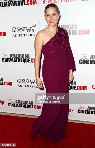 Honoree Amy Adams attends the 31st Annual American Cinematheque Awards Gala at The Beverly Hilton Hotel on November 10 2017 in Beverly Hills...
