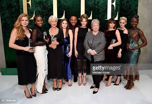 Honoree Amy Adams honoree Aja Naomi King honoree Helen Mirren honoree Anna Kendrick host Anthony Anderson ELLE EditorinChief Robbie Myers honoree...
