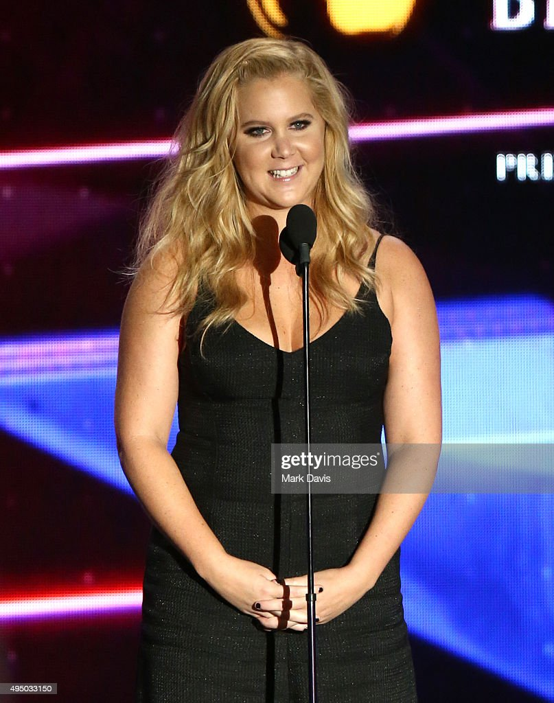 Honoree Amy Schumer accepts the Charlie Chaplin Britannia Award for Excellence in Comedy onstage during the 2015 Jaguar Land Rover British Academy Britannia Awards presented by American Airlines at The Beverly Hilton Hotel on October 30, 2015 in Beverly Hills, California.