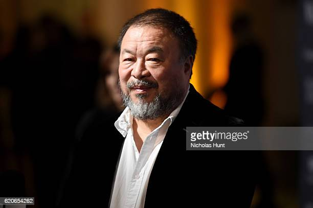 Honoree and Artist Ai Weiwei attends the WSJ Magazine 2016 Innovator Awards at Museum of Modern Art on November 2 2016 in New York City