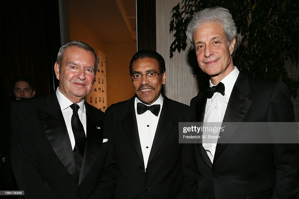 Honoree and Chicago International Film Festival Founder and Artistic Director Michael Kutza, American Cinematheque President Henry Shields Jr., and American Cinematheque Chairman Rick Nicita attend the 26th American Cinematheque Award Gala honoring Ben Stiller at The Beverly Hilton Hotel on November 15, 2012 in Beverly Hills, California.