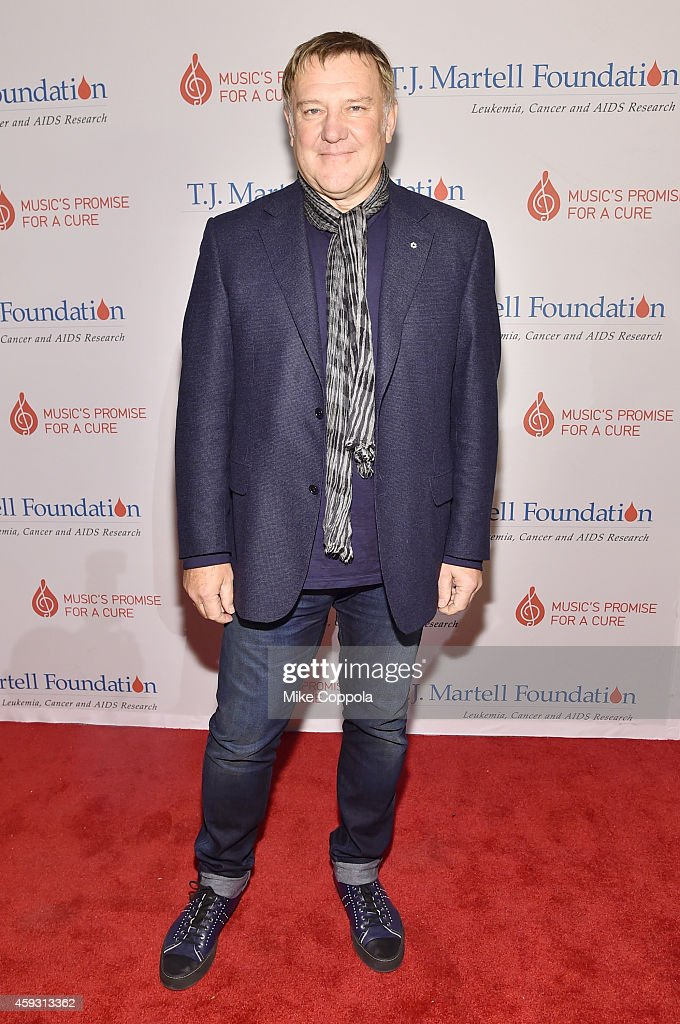 Honoree and guitarist Alex Lifeson of Rush attends the TJ Martell Foundation's 11th annual New York World Tour of Wine on November 20 2014 in New...