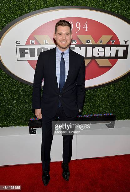 Honoree and singer Michael Buble attends Muhammad Ali's Celebrity Fight Night XX held at the JW Marriott Desert Ridge Resort Spa on April 12 2014 in...