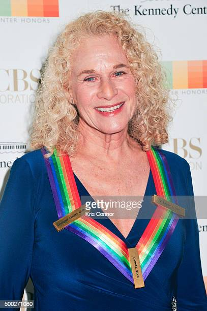 Honoree and singersongwriter Carole King arrives at the 38th Annual Kennedy Center Honors Gala at the Kennedy Center for the Performing Arts on...