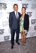 Honoree and tv personality Seth Meyers and Alexi Ashe attend the Museum Of The Moving Image Honors Netflix Chief Content Officer Ted Sarandos And...
