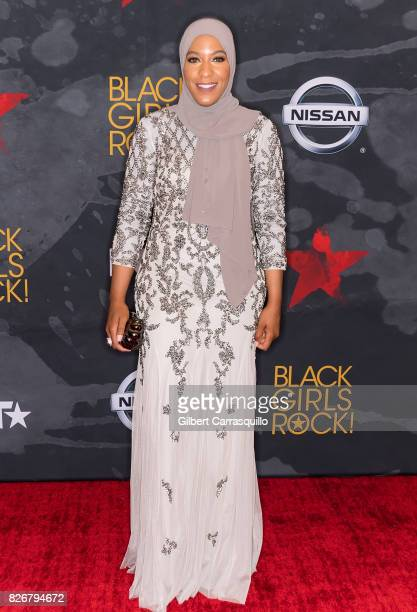 Honoree and US olympic athlete Ibtihaj Muhammad attends Black Girls Rock 2017 at New Jersey Performing Arts Center on August 5 2017 in Newark New...