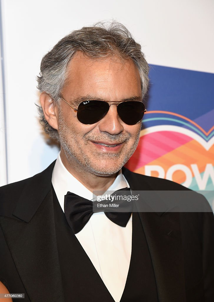Honoree <a gi-track='captionPersonalityLinkClicked' href=/galleries/search?phrase=Andrea+Bocelli&family=editorial&specificpeople=211558 ng-click='$event.stopPropagation()'>Andrea Bocelli</a> attends the 19th annual Keep Memory Alive 'Power of Love Gala' benefit for the Cleveland Clinic Lou Ruvo Center for Brain Health honoring <a gi-track='captionPersonalityLinkClicked' href=/galleries/search?phrase=Andrea+Bocelli&family=editorial&specificpeople=211558 ng-click='$event.stopPropagation()'>Andrea Bocelli</a> and Veronica Bocelli at MGM Grand Garden Arena on June 13, 2015 in Las Vegas, Nevada.