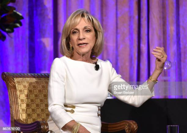 Honoree Andrea Mitchell speaks onstage at The International Women's Media Foundation's 28th Annual Courage In Journalism Awards Ceremony at Cipriani...
