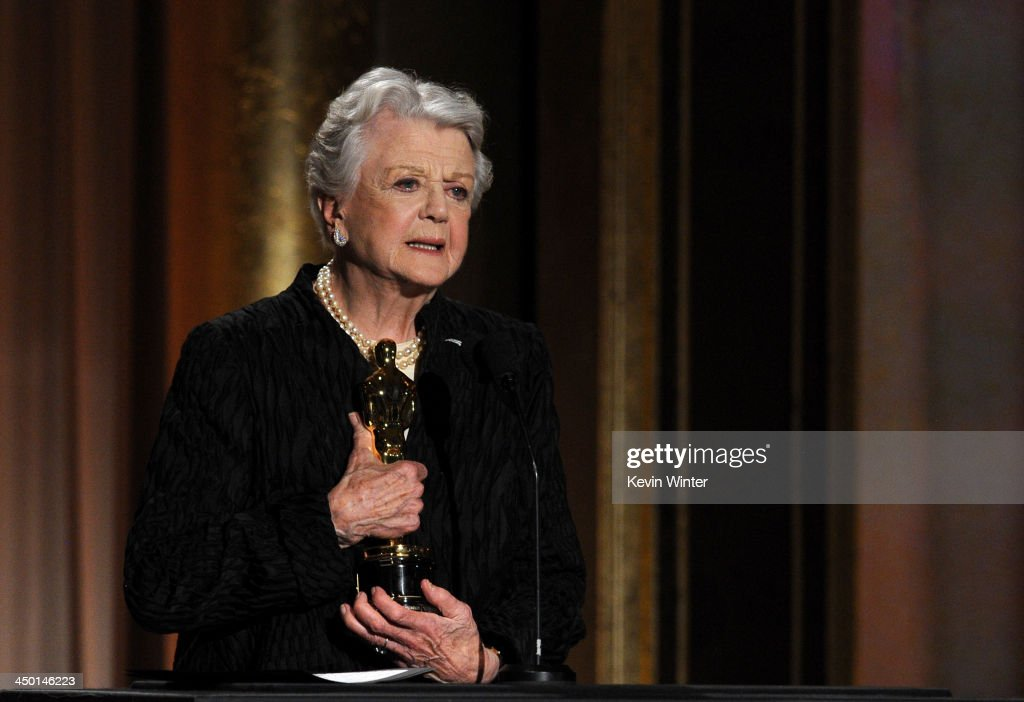 Honoree <a gi-track='captionPersonalityLinkClicked' href=/galleries/search?phrase=Angela+Lansbury&family=editorial&specificpeople=204636 ng-click='$event.stopPropagation()'>Angela Lansbury</a> accepts honorary award onstage during the Academy of Motion Picture Arts and Sciences' Governors Awards at The Ray Dolby Ballroom at Hollywood & Highland Center on November 16, 2013 in Hollywood, California.