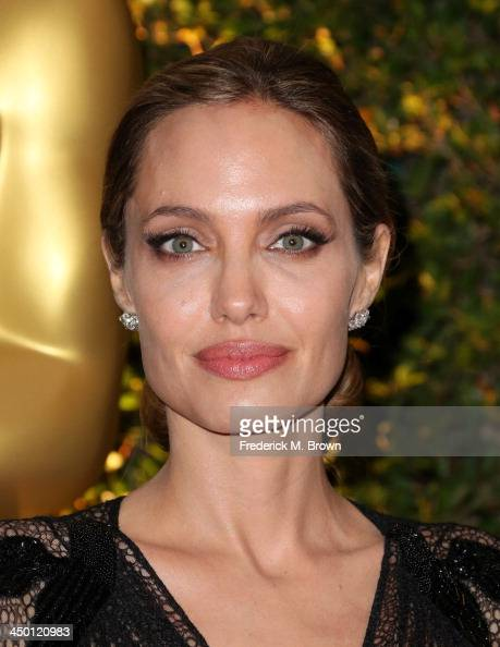 Honoree Angelina Jolie arrives at the Academy of Motion Picture Arts and Sciences' Governors Awards at The Ray Dolby Ballroom at Hollywood Highland...