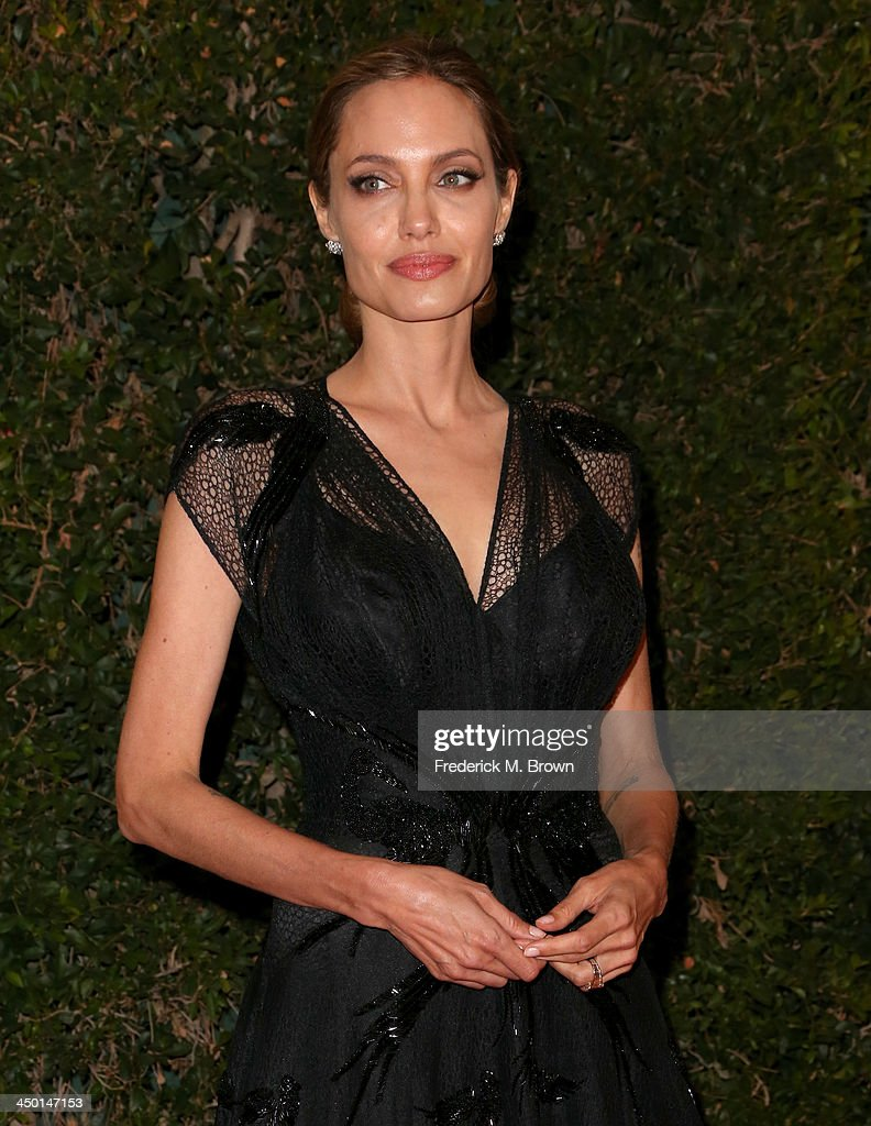 Honoree Angelina Jolie arrives at the Academy of Motion Picture Arts and Sciences' Governors Awards at The Ray Dolby Ballroom at Hollywood & Highland Center on November 16, 2013 in Hollywood, California.