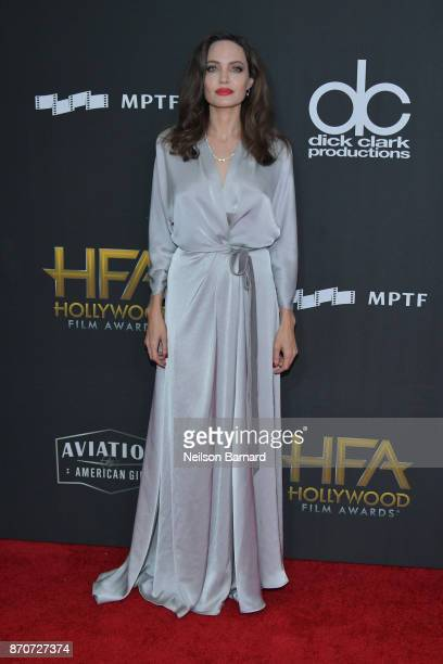 Honoree Angelina Jolie attends the 21st Annual Hollywood Film Awards at The Beverly Hilton Hotel on November 5 2017 in Beverly Hills California