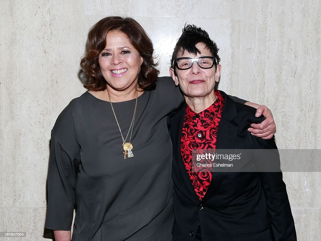 Honoree <a gi-track='captionPersonalityLinkClicked' href=/galleries/search?phrase=Anna+Deavere+Smith&family=editorial&specificpeople=234428 ng-click='$event.stopPropagation()'>Anna Deavere Smith</a> and choreographer Elizabeth Streb attend the 19th Annual Dorothy And Lillian Gish Prize Ceremony at The Vista 1 Chase Manhattan Plaza on February 13, 2013 in New York City.