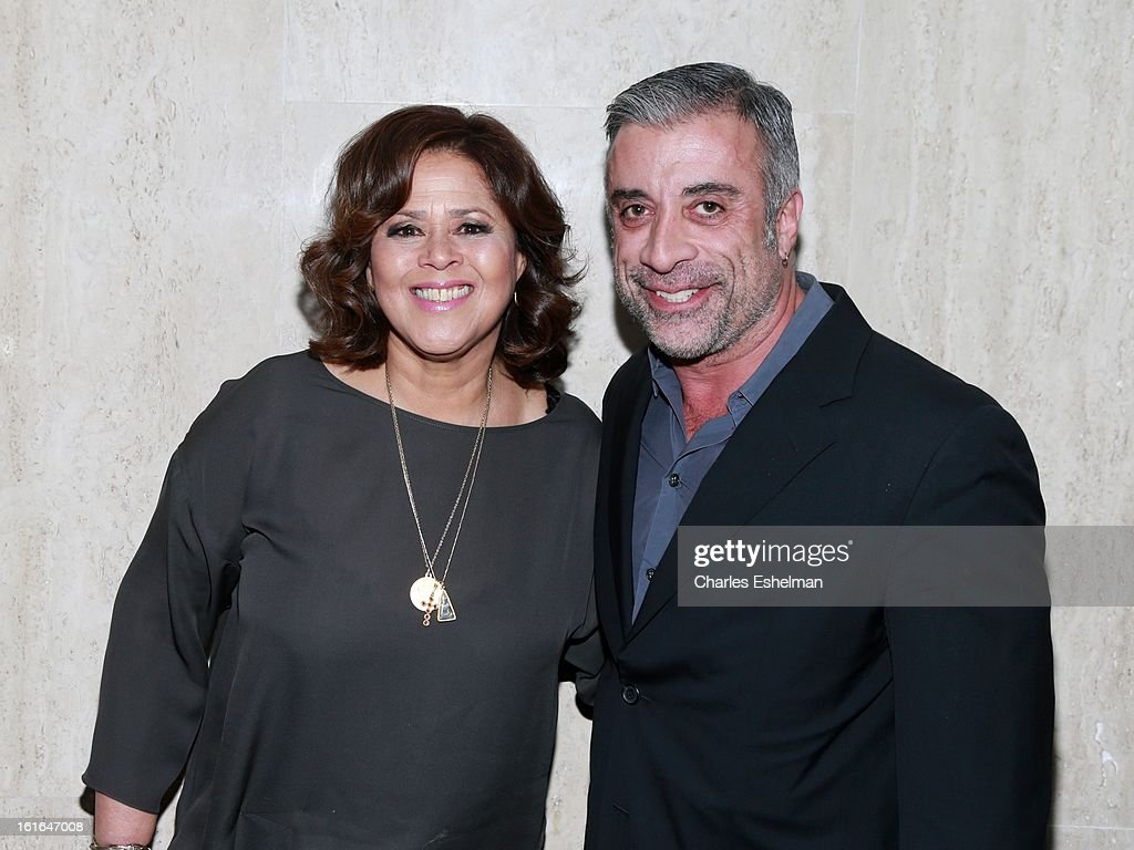 Honoree <a gi-track='captionPersonalityLinkClicked' href=/galleries/search?phrase=Anna+Deavere+Smith&family=editorial&specificpeople=234428 ng-click='$event.stopPropagation()'>Anna Deavere Smith</a> and film producer John Melfi attend the 19th Annual Dorothy And Lillian Gish Prize Ceremony at The Vista 1 Chase Manhattan Plaza on February 13, 2013 in New York City.