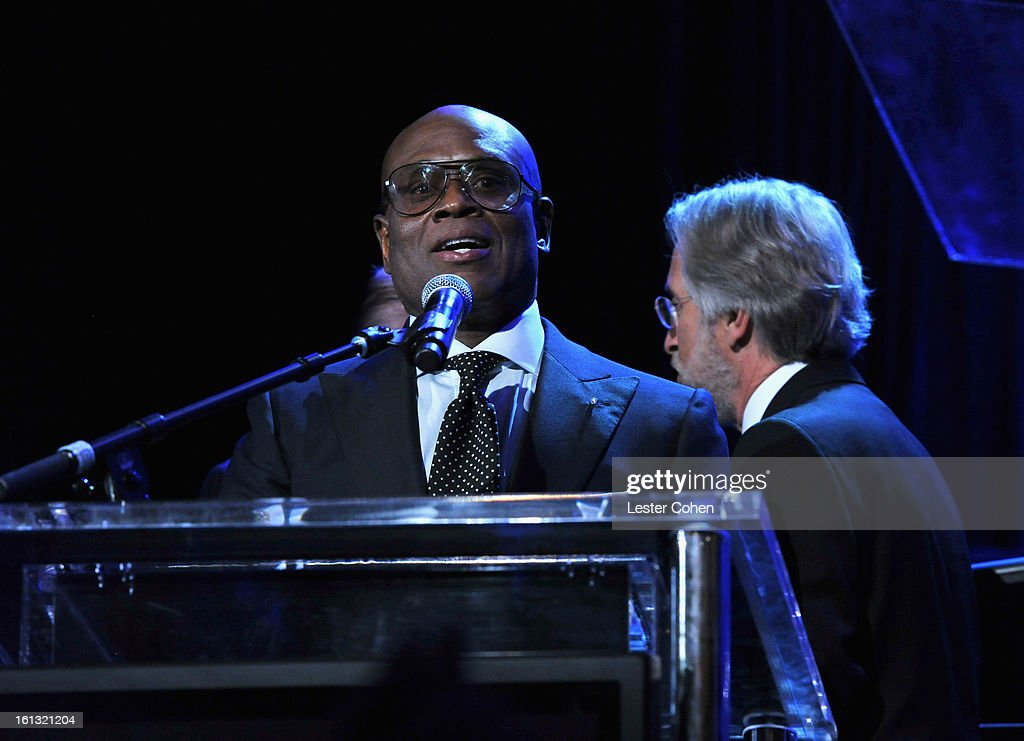 Honoree Antonio 'L.A.' Reid speaks onstage at the 55th Annual GRAMMY Awards Pre-GRAMMY Gala and Salute to Industry Icons honoring L.A. Reid held at The Beverly Hilton on February 9, 2013 in Los Angeles, California.