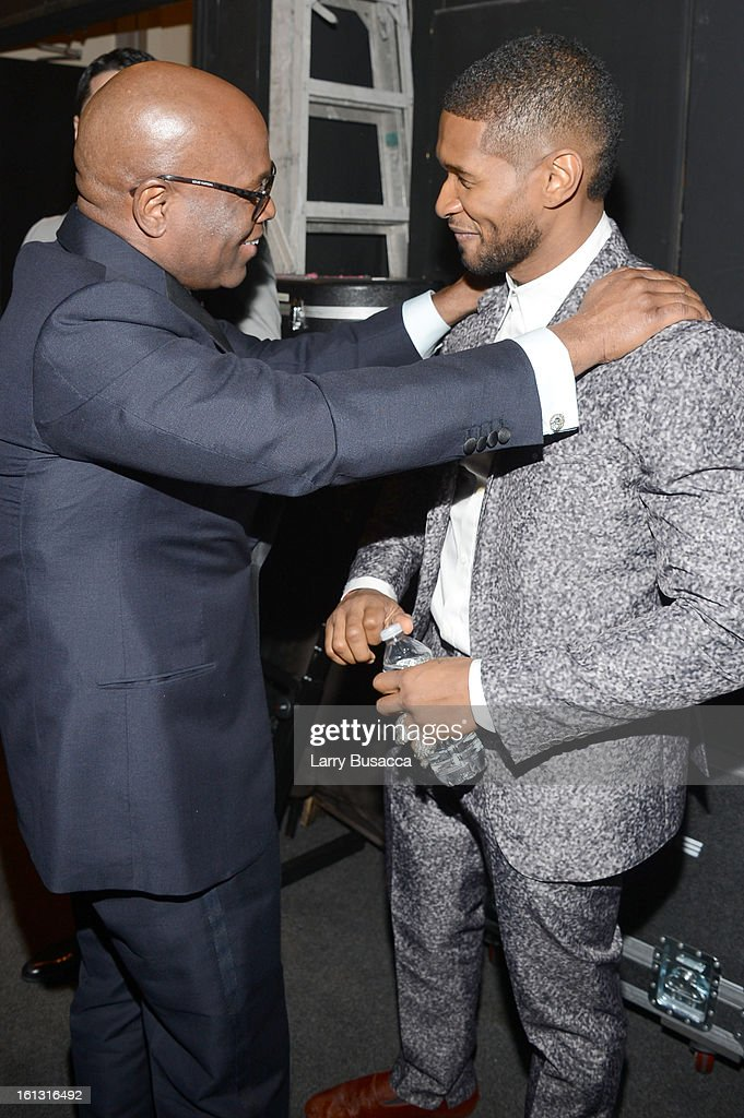 Honoree Antonio 'LA' Reid and singer Usher attends the 55th Annual GRAMMY Awards Pre-GRAMMY Gala and Salute to Industry Icons honoring L.A. Reid held at The Beverly Hilton on February 9, 2013 in Los Angeles, California.