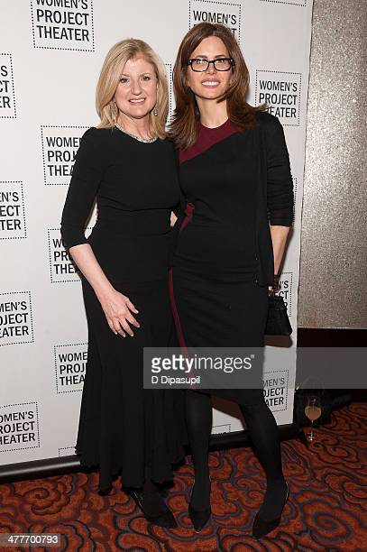 Honoree Arianna Huffington and Desiree Gruber attend the Women Project Theater's 2014 Women Of Achievement Gala at the Mandarin Oriental Hotel on...