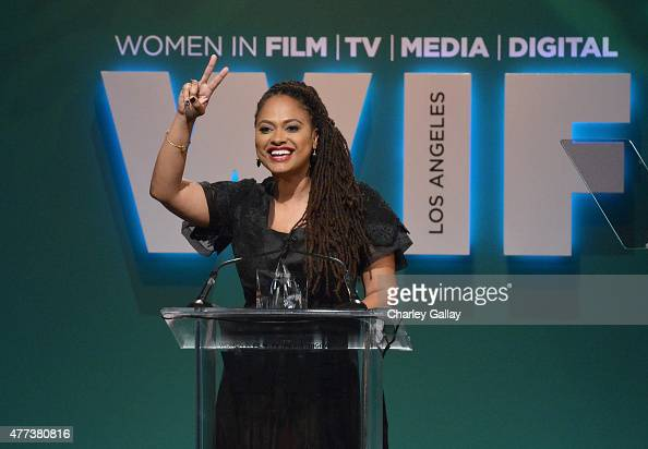 Honoree Ava DuVernay accepts The BMW Dorothy Arzner Directors Award onstage during the Women In Film 2015 Crystal Lucy Awards Presented by Max Mara...