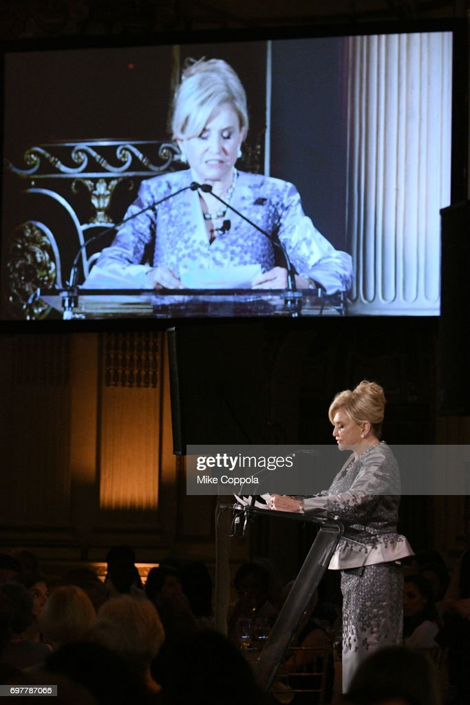 Honoree, award recipient Congresswoman Carolyn B. Maloney speaks on stage during The 7th Annual Elly Awards at The Plaza Hotel on June 19, 2017 in New York City.