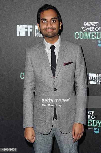 Honoree Aziz Ansari attends Variety's Power of Comedy Event Honoring Aziz Ansari at The Belasco Theater on December 11 2014 in Los Angeles California