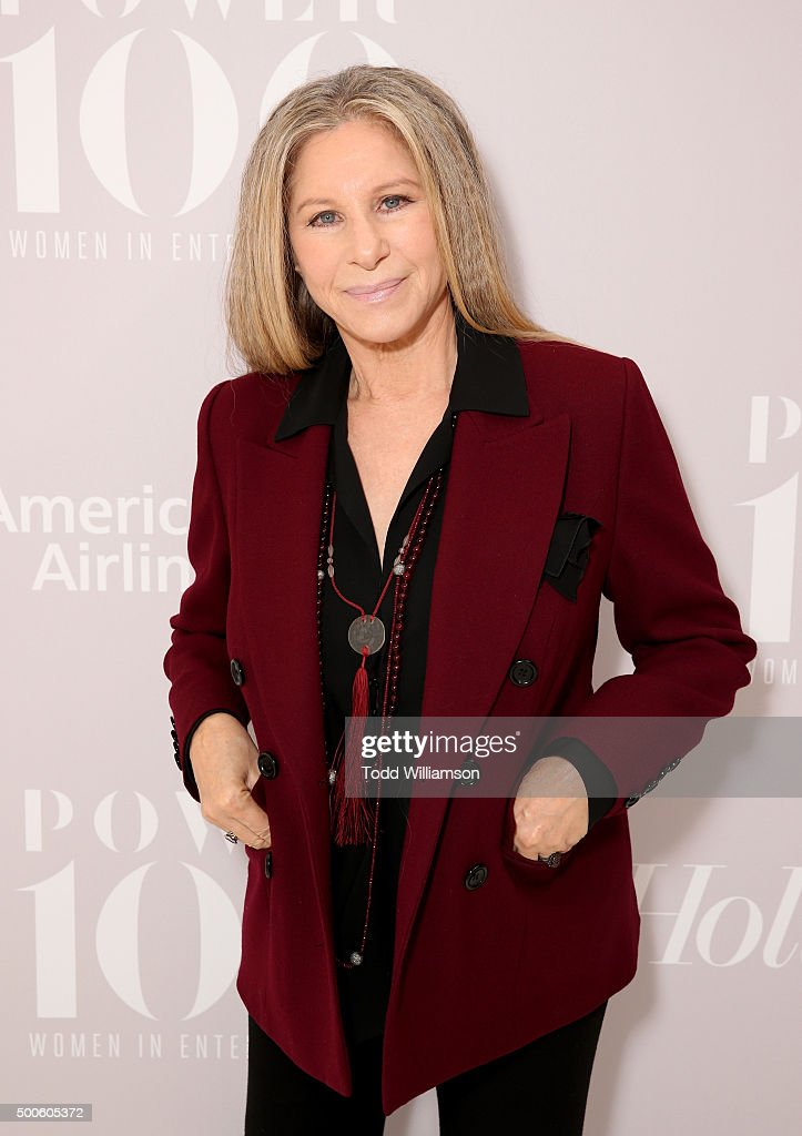 Honoree Barbra Streisand attends the 24th annual Women in Entertainment Breakfast hosted by The Hollywood Reporter at Milk Studios on December 9 2015...