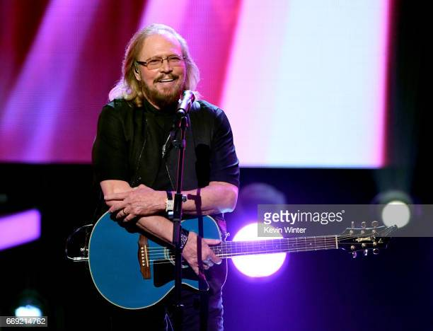 Honoree Barry Gibb of the Bee Gees performs onstage during 'Stayin' Alive A GRAMMY Salute To The Music Of The Bee Gees' on February 14 2017 in Los...