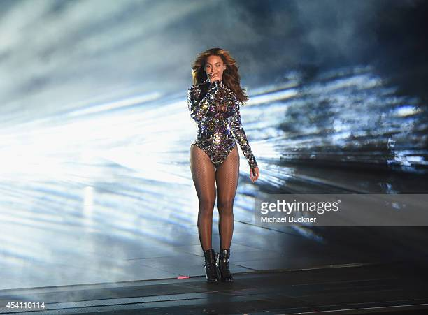 Honoree Beyonce performs onstage during the 2014 MTV Video Music Awards at The Forum on August 24 2014 in Inglewood California