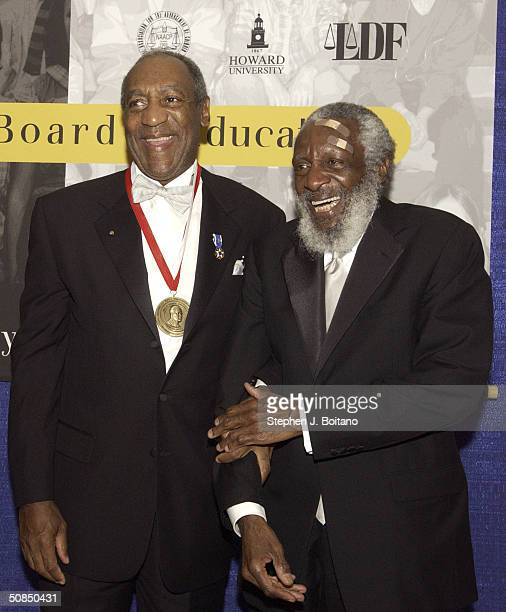 Honoree Bill Cosby and Comedian Dick Gregory attend the Brown v Board of Education 50th Anniversary Gala on May 17 2004 in Washington DC