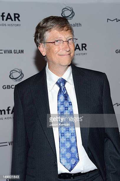 Honoree Bill Gates attends Together To End AIDS An Evening To Benefit amfAR and GBCHealth at John F Kennedy Center for the Performing Arts on July 21...