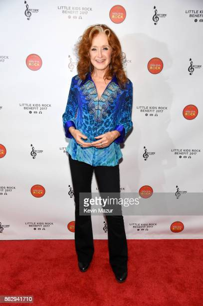 Honoree Bonnie Raitt attends the Little Kids Rock Benefit 2017 at PlayStation Theater on October 18 2017 in New York City