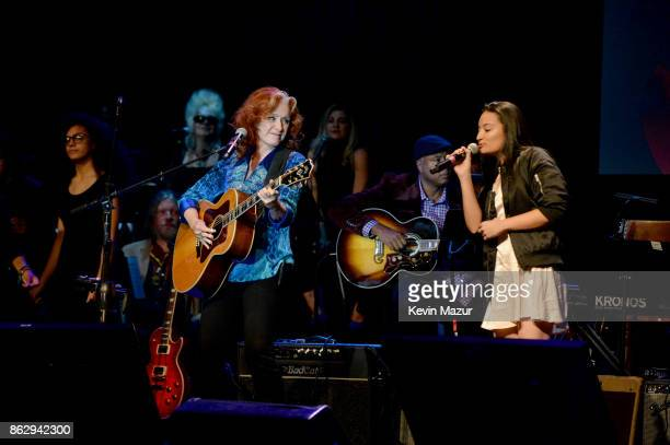 Honoree Bonnie Raitt performs onstage during the Little Kids Rock Benefit 2017 at PlayStation Theater on October 18 2017 in New York City