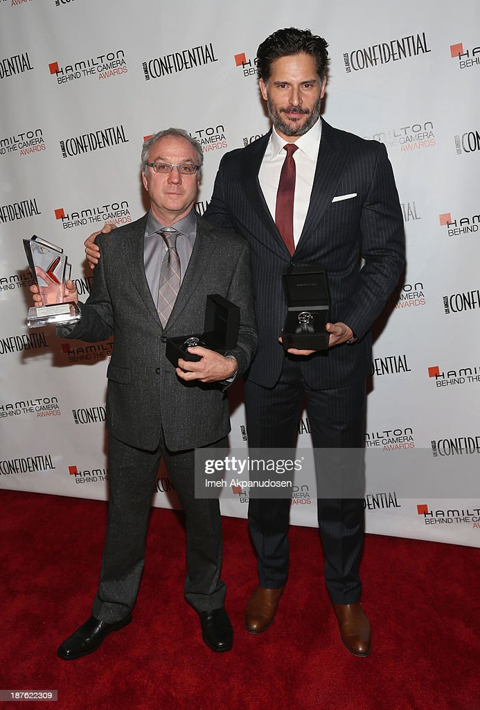Honoree Brad Einhorn (L) and actor <a gi-track='captionPersonalityLinkClicked' href=/galleries/search?phrase=Joe+Manganiello&family=editorial&specificpeople=2516889 ng-click='$event.stopPropagation()'>Joe Manganiello</a> attend Hamilton and Los Angeles Confidential Magazine's announcement of the 7th Annual Hamilton Behind The Camera Awards at The Wilshire Ebell Theatre on November 10, 2013 in Los Angeles, California.