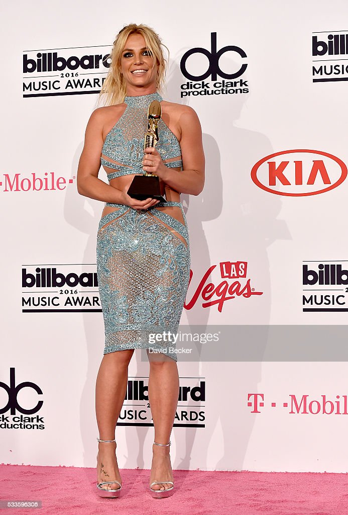Honoree <a gi-track='captionPersonalityLinkClicked' href=/galleries/search?phrase=Britney+Spears&family=editorial&specificpeople=156415 ng-click='$event.stopPropagation()'>Britney Spears</a>, recipient of the Millennium Award, poses in the press room during the 2016 Billboard Music Awards at T-Mobile Arena on May 22, 2016 in Las Vegas, Nevada.