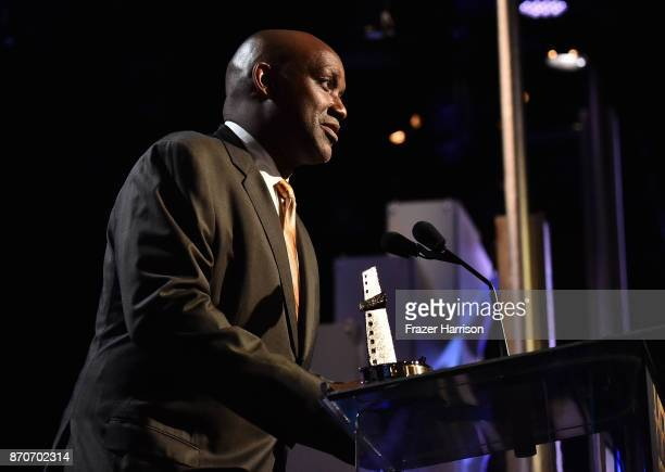 Honoree Broderick Johnson accepts the Hollywood Producer Award for 'Blade Runner 2049' onstage at the 21st Annual Hollywood Film Awards at The...