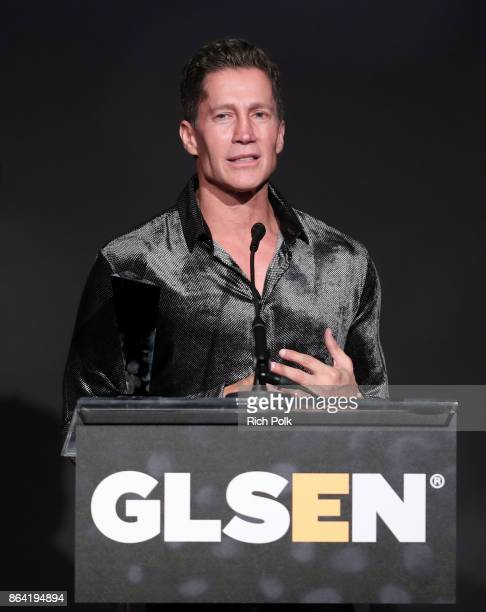 Honoree Bruce Bozzi accepts the Champion Award onstage at the 2017 GLSEN Respect Awards at the Beverly Wilshire Hotel on October 20 2017 in Los...