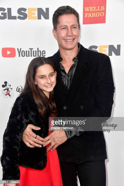 Honoree Bruce Bozzi and Ava Bozzi at the 2017 GLSEN Respect Awards at the Beverly Wilshire Four Seasons Hotel on October 20 2017 in Beverly Hills...