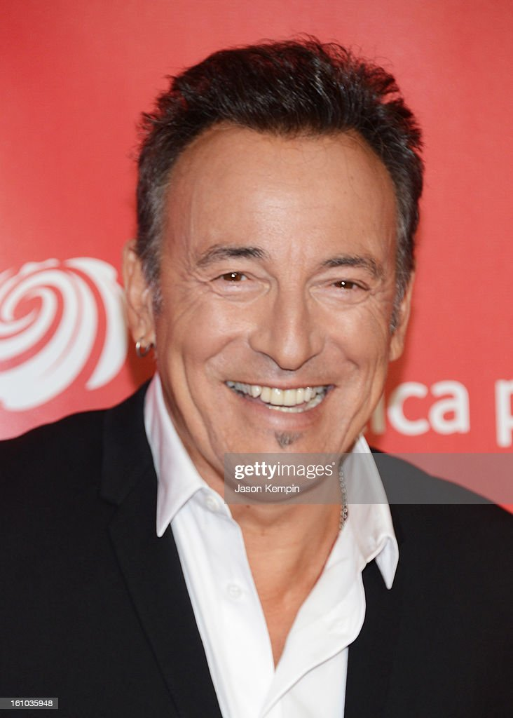Honoree Bruce Springsteen arrives at he 2013 MusiCares Person Of The Year Gala Honoring Bruce Springsteen at Los Angeles Convention Center on February 8, 2013 in Los Angeles, California.