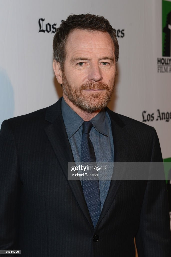 Honoree <a gi-track='captionPersonalityLinkClicked' href=/galleries/search?phrase=Bryan+Cranston&family=editorial&specificpeople=217768 ng-click='$event.stopPropagation()'>Bryan Cranston</a> arrives at the 16th Annual Hollywood Film Awards Gala presented by The Los Angeles Times held at The Beverly Hilton Hotel on October 22, 2012 in Beverly Hills, California.