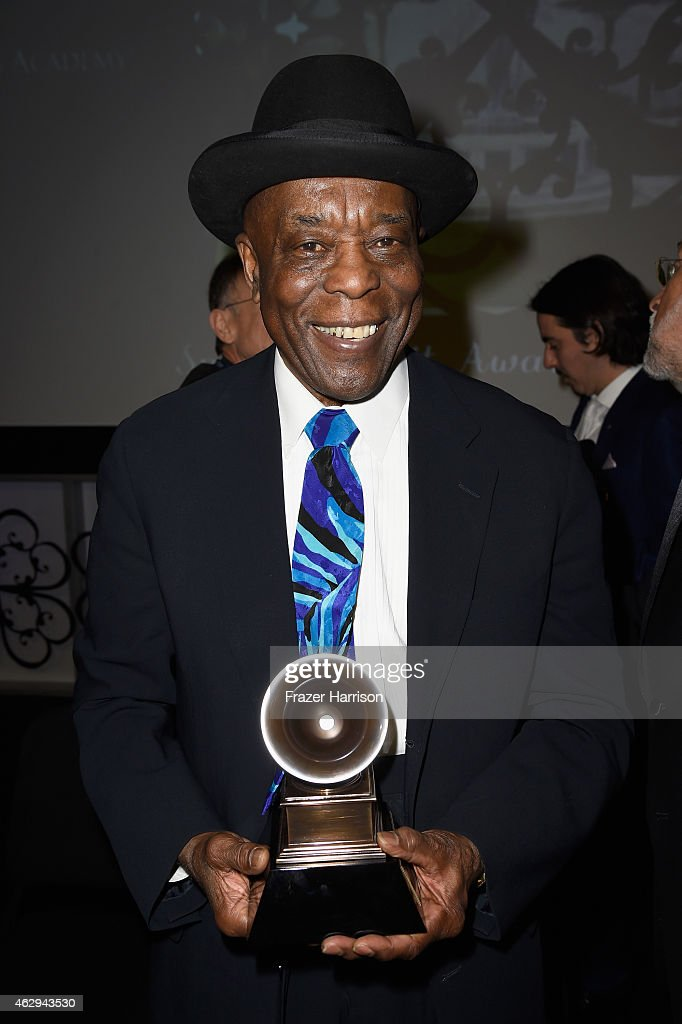 Honoree <a gi-track='captionPersonalityLinkClicked' href=/galleries/search?phrase=Buddy+Guy&family=editorial&specificpeople=215438 ng-click='$event.stopPropagation()'>Buddy Guy</a> attends The 57th Annual GRAMMY Awards - Special Merit Awards Ceremony on February 7, 2015 in Los Angeles, California.