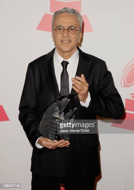Honoree Caetano Veloso arrives at the 2012 Latin Recording Academy Person Of The Year honoring Caetano Veloso at the MGM Grand Garden Arena on...