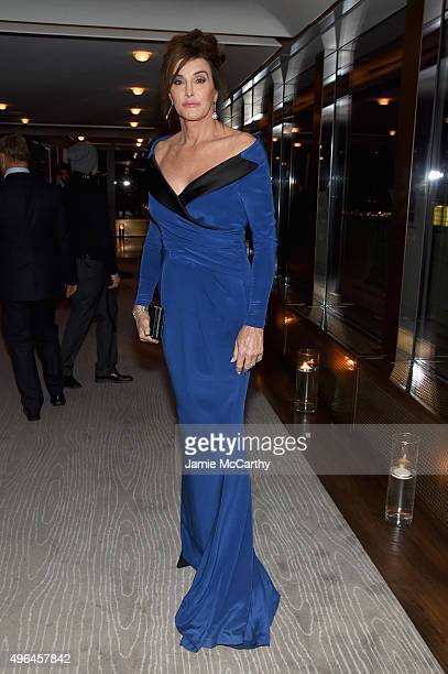 Honoree Caitlyn Jenner attends the 2015 Glamour Women of The Year Awards dinner hosted by Cindi Leive at The Rainbow Room on November 9 2015 in New...