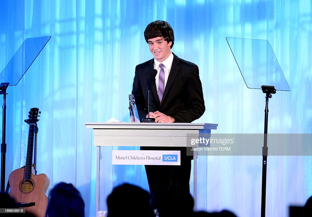 Honoree Cameron Cohen recipient of the Innovator Award speaks onstage during The Kaleidoscope Ball - Designing The Future benefitting the UCLA Children's Discovery and Innovation Institute at Mattel Children's Hospital UCLA at Beverly Hills Hotel on April 17, 2013 in Beverly Hills, California.