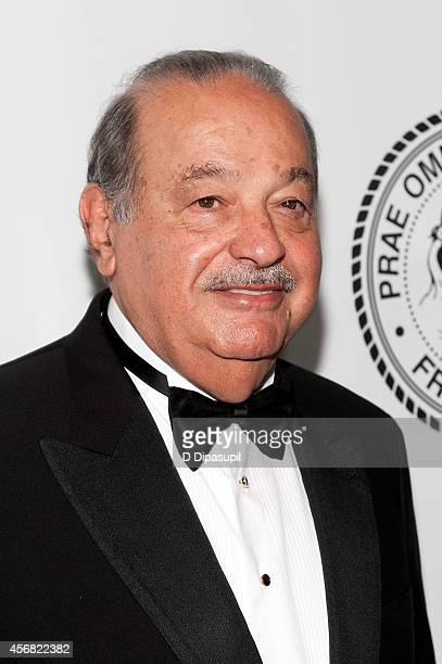 Honoree Carlos Slim attends the Friars Foundation Gala honoring Robert De Niro and Carlos Slim at The Waldorf=Astoria on October 7 2014 in New York...